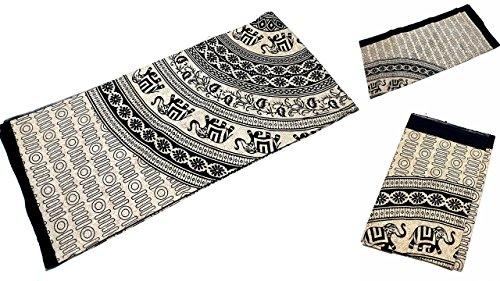 Grande Ambe Premium sábana sábana cama de ropa de cama 100% algodón 210x 230cm negro beige elefante Ornament elegante nº 4