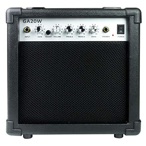 Rockjam Amplificatore per Chitarra da 20 Watt con Uscita Heaphone e Effetti