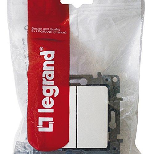 Legrand 664702 Conmutador Doble Niloé, 10 Ax, 250 V, Blanco