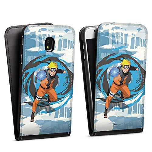 DeinDesign Flip Hülle kompatibel mit Samsung Galaxy J3 Duos 2017 Tasche Schwarz Hülle Offizielles Lizenzprodukt Manga Naruto Shippuden