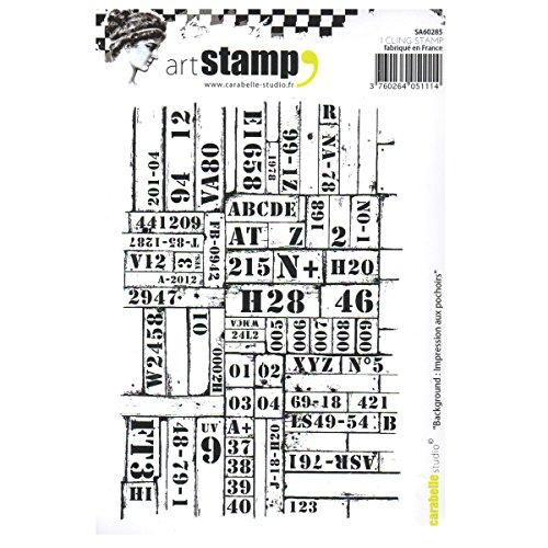 Carabelle Studio Cling Art, Stencil impressies achtergrond, voor papier Craft Stamping Projecten, Kaarten maken en Scrapbooks, Multi-Colored, One Size