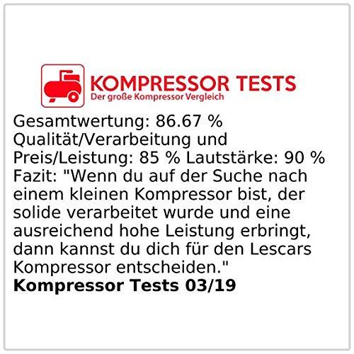 Lescars Mini Luftkompressor 12 V Kfz - 5