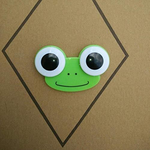 Boner 1PCS Sweet Cartoon 3D Big Eyes Kontaktlinsen Box Case Eule Frosch Tierform Contact Lens Case, Grün