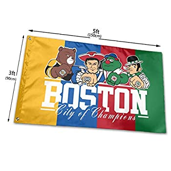 RONGANDHE Boston City of Champions Flag Banner 3x5 Feet Man Cave Party Garden House Outdoor style3