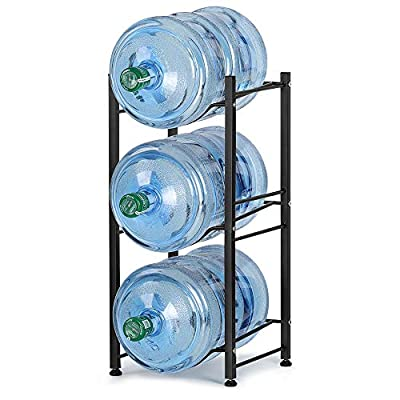Water Cooler Jug Rack, 5 Gallon Water Bottle Storage Rack Detachable Heavy Duty Water Bottle Cabby Rack for Home, Office Organization from
