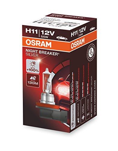 OSRAM NIGHT BREAKER LASER HB3, next generation, +150% di luce, lampada da proiettore alogena, 9005NL-HCB, 12V, auto, (1 lampada)
