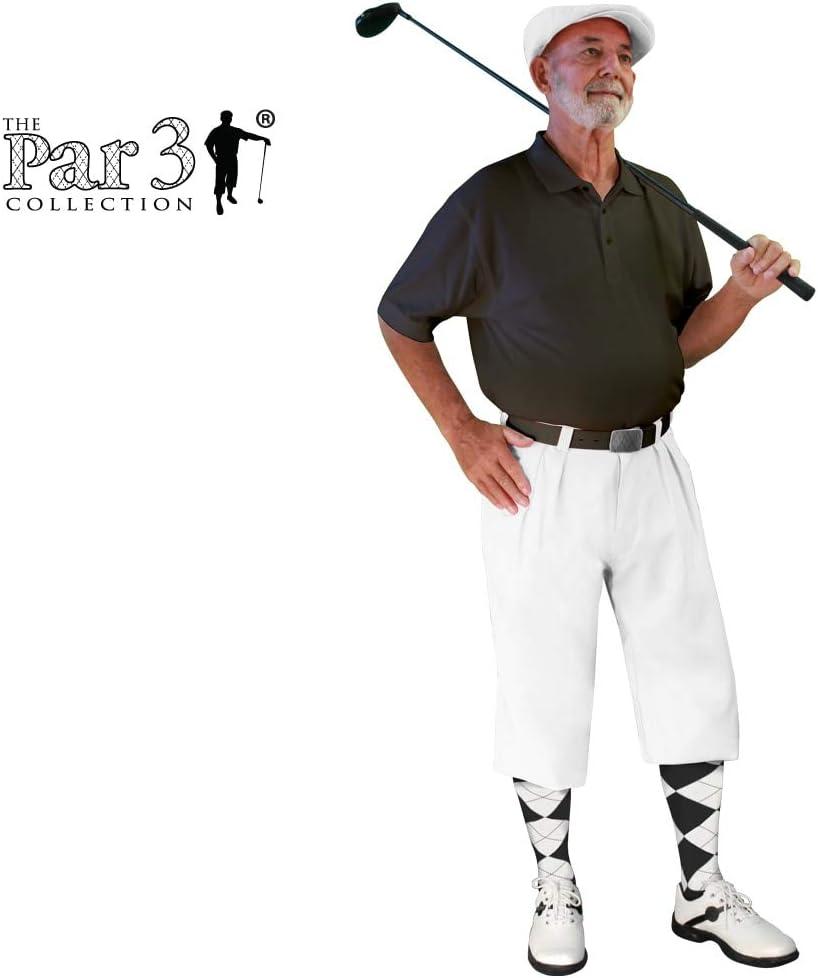 1930s Men's Fashion Guide- What Did Men Wear? Golf Knickers White Mens Par 3 - Microfiber  AT vintagedancer.com