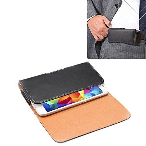 Funda Galaxy Textura de Loco Caballo Funda de Cuero con Tapa Vertical/Bolsa de Cintura con tablilla Trasera para iPhone 8 y Samsung Galaxy S5 / G900