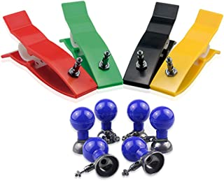 Multiple Color ECG/EKG Limb Clamp Clip Electrodes with Suction Cup Bulb Balls for Adult Size AgCl