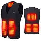 GBLDLY Gilet chauffant pour homme et femme - Veste chauffante électrique rechargeable par USB - Veste chaude lavable avec 3 températures en option