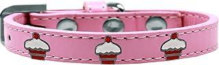 Mirage Pet Products 631-28 LPK20 Red Cupcake Widget Dog Collar, Size 20, Light Pink