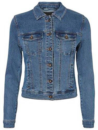 Vero Moda Vmhot SOYA LS Jacket Mix Noos Chaqueta, Azul (Medium Blue Denim Medium Blue Denim), 44 (Talla del Fabricante: X-Large) para Mujer