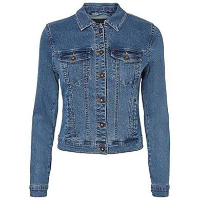 Vero Moda Vmhot SOYA LS Denim Jacket Mix Noos Chaqueta para Mujer a buen precio