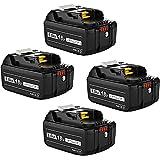 DOSCTT 互换 マキタ 18v バッテリー bl1860b 6.0Ah マキタ18v互換 バッテリーBL1830 BL1840 BL1850 BL1860 リチウムイオン電池 PSE取得済み BL1860B 6.0Ah 4個セット