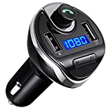 Amir Bluetooth FM Transmitter, Wireless In-Car FM Transmitter Radio Adaptor Car Kit, Universal Car Charger with Dual USB Charging Ports, Hands Free Calling for iPhone, Samsung, etc.