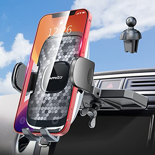 CD Slot Phone Holder, [Anti Drop & Shake] CD Slot & Air Vent Phone Holder for Car, Thick Case Friendly Phone Mount for Car CD Player, Hands Free Cell Phone Mount, Compatible with iPhone/Samsung. etc