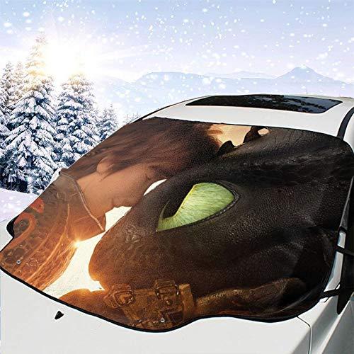 Tra-in Your Drag-on l-e-go Cute Steve Herman Cartoon 34 do hard things Protector de parabrisas magnético protección contra la nieve protección UV bloque nieve
