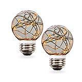 SleekLighting 0.5 watt LED Light Bulb - Fairy light G16 – General Purpose Orange LED Light Bulb – UL Approved – Uses half a Watt of Energy, 110 Volts, Instant On, Average Life 10,000 Hours