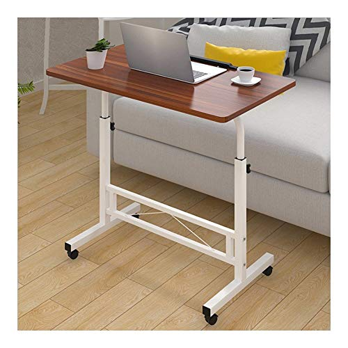 Days Overbed Table,Days Overbed Table With Castors ,Mobile Stand Up Desk Height- Adjustable Suitable For Bedroom, Living Room, Balcony Portable Side Table (Color : Ancient ebony color)