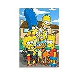 WLLSF Cartoon The Simpsons Poster, dekoratives Gemälde,