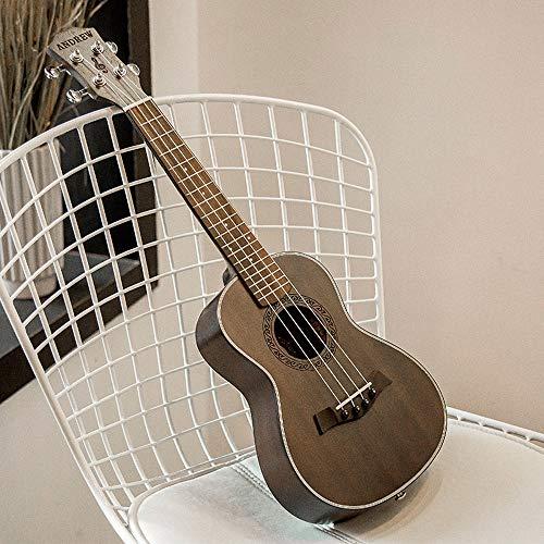 Mkulele 23 Zoll Mahagoni Ukulele Ukulele Kleine Gitarre Hawaiianische 4-Saiter Gitarre Antikes Palisander Griffbrett