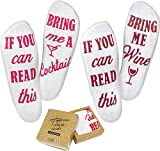 Wine Socks (2 Pack) with Gift Box - Great Gift for Valentine's Day, Mother's Day, or Birthdays