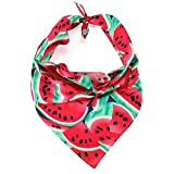 LUCKITTY Dog Bandanas Cotton Triangle Scarf 3D Pattern Design...