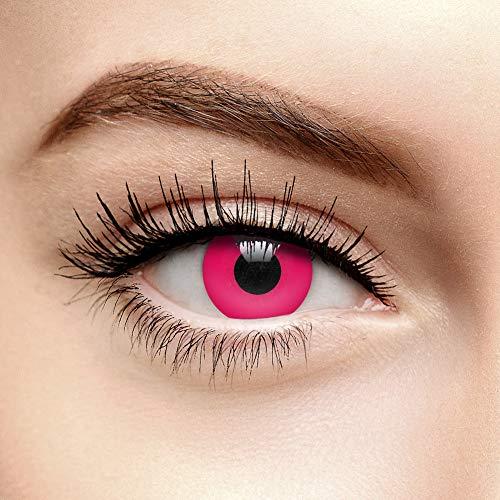 Chromaview i-Glow Farbige Kontaktlinsen Ohne Stärke UV Pink (30 Tage)