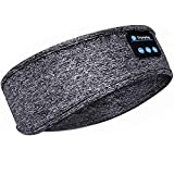 Sleep Headphones Bluetooth Headband,Upgrage Soft Sleeping Wireless Music Sport Headbands, Long Time Play Sleeping Headsets with Built in Speakers Perfect for Workout, Running, Yoga (Gray)
