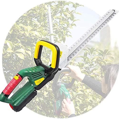 CRZJ Hedge Trimmer inalámbrico, 18V Hedge Trimmer Cortador jardín con 4000mah batería y el Cargador, 58cm Longitud de Corte, eléctrico Hedge Trimmers de arbusto, jardín, Hierba o césped