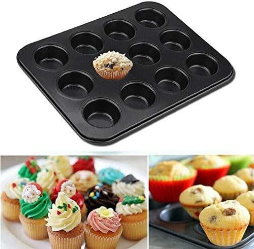 12 Cup Pan Muffin Cupcake Tray It is very popular Non Moulds + cheap 1 Stick Baking Trays