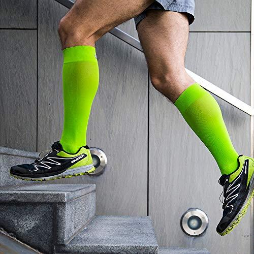Bauerfeind, 1 Paar Sport-Kompressionsstrümpfe, Für Ausdauersportarten wie Running, Walking, Hiking, Gr. M lang, Weiß, 29480011000032 - 3