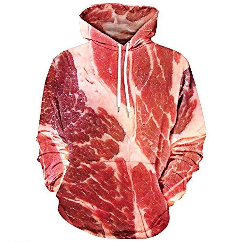 KiyomiQaQ Sweats à Capuche Unisexe Porc Imprimé Style Design Tendency Hoodies T Shirt Sweat-Shirts Automne Hiver Veste Capuche Blousons Tops Manches Longues Pull à Capuche Chemisiers Grande Taille