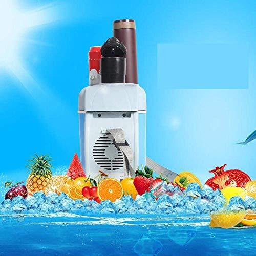 Mini fridge Refrigeradores de automóviles, Mini Frigorífico 7.5 Coche Inicio Refrigerador 12V Caja caliente y caliente Caja de bebidas portátiles para bebidas para dormitorio, oficina o azul-azul 34x2