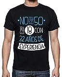 latostadora - Camiseta 1968, No Tengo 50. () para Hombre Negro L