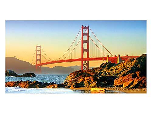 GrazDesign 991097 privacy film San Francisco brug | bedrukte raamfolie | glasdecoratiefolie als inkijkbescherming 110x57cm