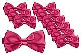 BomGuard Juego de 10 pajaritas para hombre en 40 colores con lazo ajustable y atado. rosa Talla...