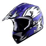 WOW Youth Kids Motocross BMX MX ATV Dirt Bike Helmet Star Matt Blue bmx bikes for kids Oct, 2020