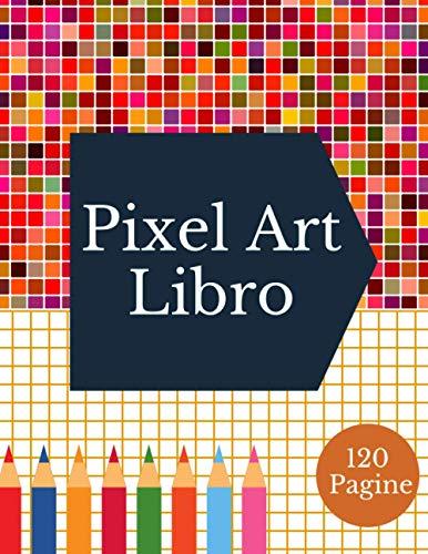 libro pixel art: Quadretti-libro di pixel art | taccuino da colorare attività | libro da colorare bambini | adolescenti e adulti | pixel art diamond | attività per bambini
