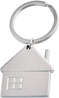 Pegcdu Geometría Llavero en Forma de pequeña casa Colgante Llavero del Coche de Metal del hogar Anillo dominante de Accesorios Decorativos