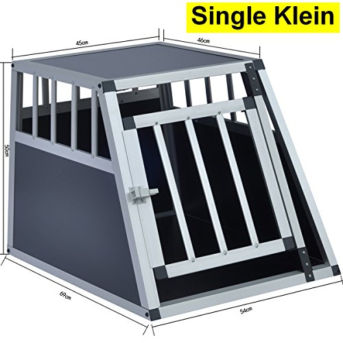 Delman Alu Hundetransportbox stabile Ellipsenrohren als Gitter Single Klein 10-2001