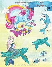 Einhörner und Meerjungfrauen: Süßes Malbuch für Mädchen ab 2 Jahre   Die bunte Welt der Einhörner und Meerjungfrauen für Kinder   Entspannendes Zeichnen für Kinder   Einhorn geschenk (German Edition)