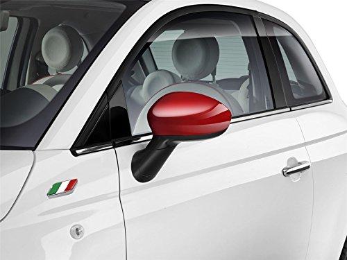 Echte Fiat 500 rode gekleurde spiegel Caps Kit - 71807485