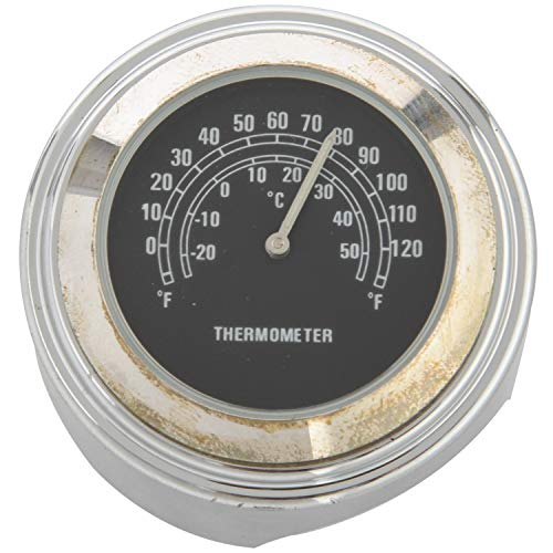 """TOPSALE Wasserdichtes 7/8"""" Motorrad Lenker Fahrradhalterung Temperatur Thermometer (Schwarz)"""