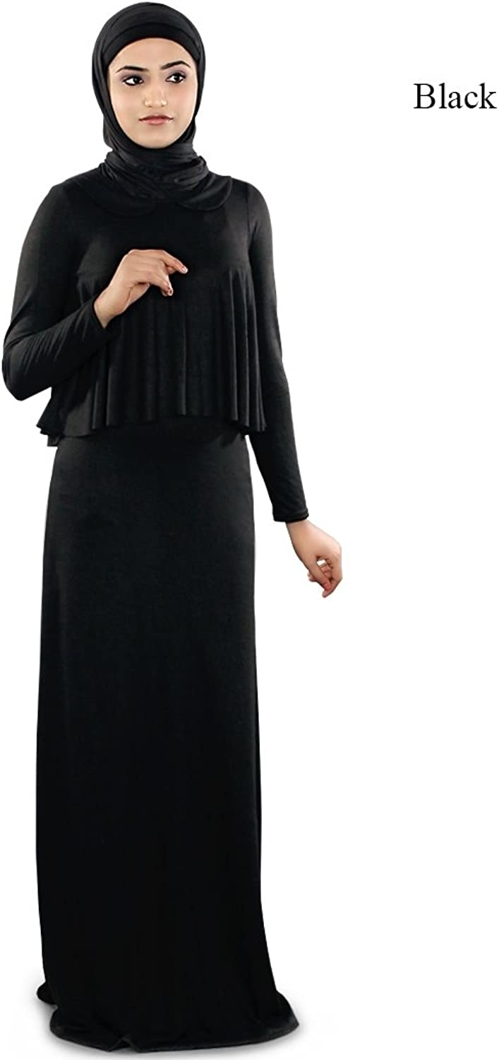 MyBatua Black Muslim Traditional Jersey Casual and Formal Wear Abaya Burqa AY240