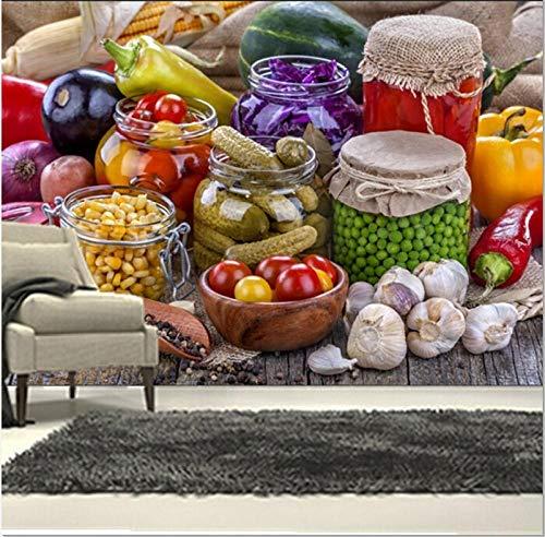 Qingany Wandscherm, papier, muurverf, 3D, voor alle soorten groenten, café, wand, restaurant, eetkamer, muur, behang 400 x 280 cm