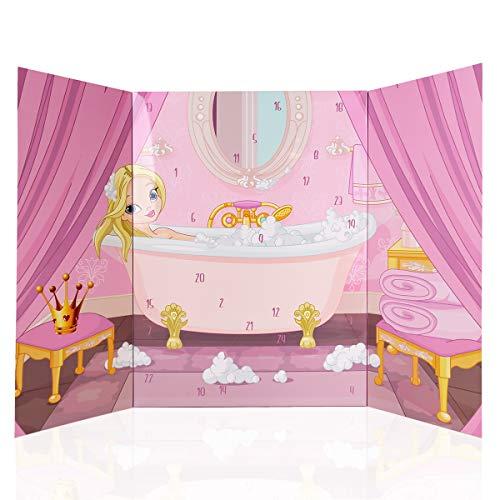 Accentra Prinzessin Adventskalender voor meisjes, met 24 bad- en lichaamsverzorging, beauty en cosmetica-producten voor een gevarieerde en stijlvolle adventstijd