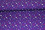 Jerseystoff mit Punkten - Bubbly Dot - lila | 1,50 Meter