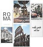 Papierschmiede® Mood-Poster Set Rom | Gerahmte Bilder in