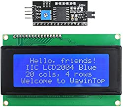 WayinTop 20x4 2004 LCD Display Module with IIC/I2C/TWI Serial Interface Adapter for Arduino for Mega 2560 (Blue/2004)